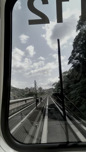 Railroad track passing through road