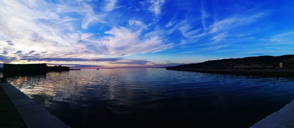 Water Skyporn Sun Sunset Cloud Reflection Blue Sea Sunset Cloud - Sky Sky Landscape Standing Water Travel Destinations Horizon Over Water Beauty Nature Mountain Scenics Outdoors No People