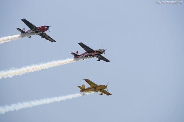 Airshow Gujaratday Celebrations Acrobatics  Stunts Instagram_ahmedabad SabarmatiRiverFront Ahmedabad Gujarat India