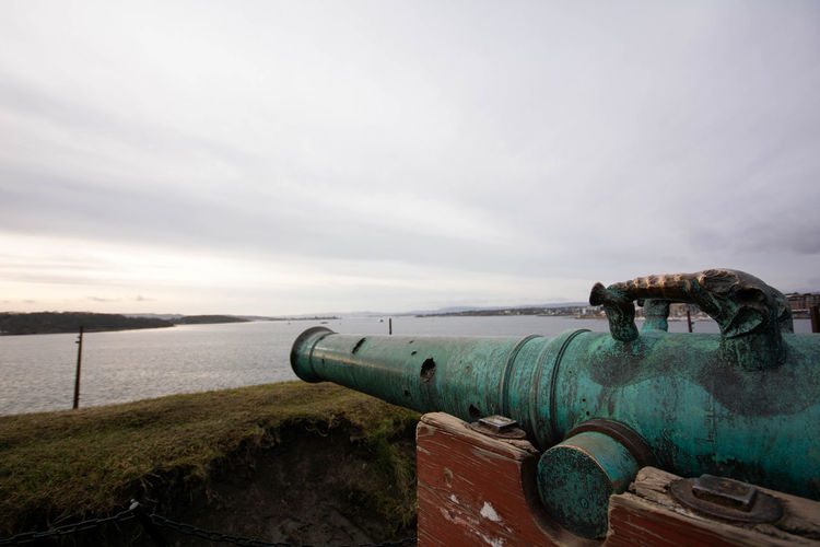 Old cannon on the fortress hill