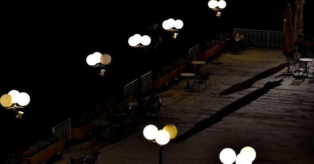 Night Lights Night Shadows Candle Electric Lamp Electricity  Glowing Illuminated Lighting Equipment Night