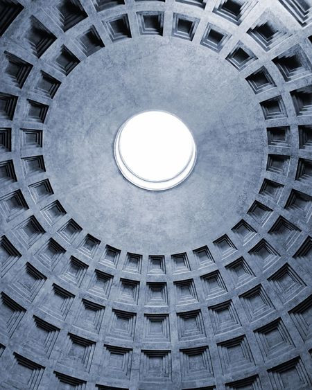 Low Angle View Of Pantheon Cupola