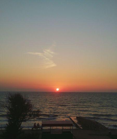 Закат на Черном море. пейзаж Море вечер небо Sea Sky Landscape Vacations Idyllic Tranquility Horizon Over Water