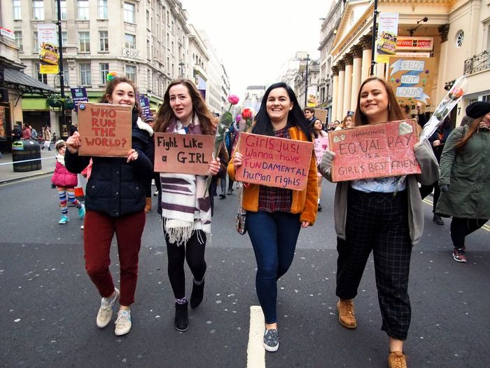 Womens March. London. 19/01/2019 LONDON❤ Equality Protesters Protest Womens March 2019 Womens March London News Womens March London Stevesevilempire Steve Merrick OM-D Olympus City Architecture Group Of People Happiness Friendship Emotion Women