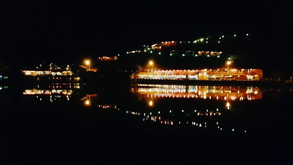 Night Reflection No People Illuminated Outdoors Sky