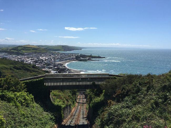 Bridge Cliff Railway Coastline Day Idyllic Scenics Sea Sky Wales