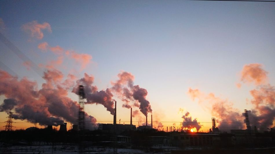 No People Nature Sky Outdoors City Photography Winter Oilfield Factory Cold Winter ❄⛄