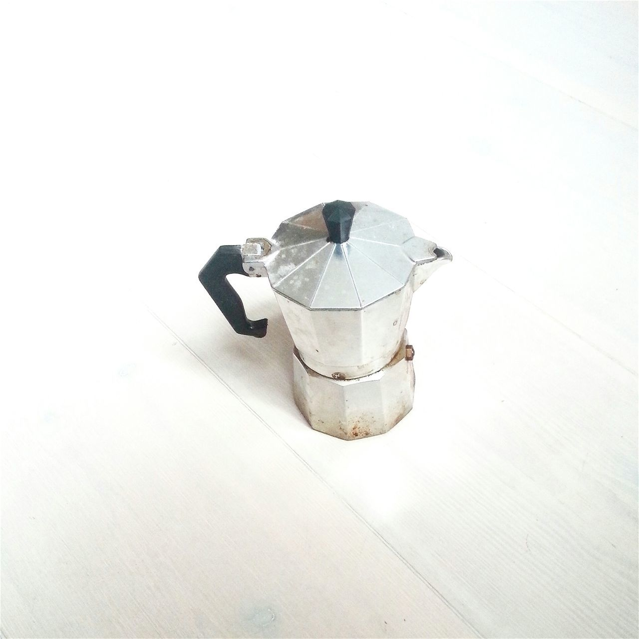 High Angle View Of Espressokanne Against White Background