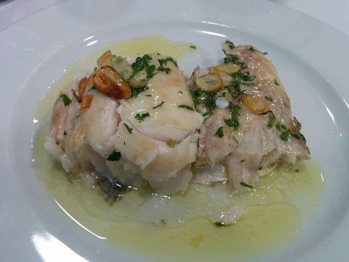 Merluza  Merluza A La Donostiarra Food Plate No People Healthy Eating Ready-to-eat Hake Spanish Food Comida Vasca Basque Food