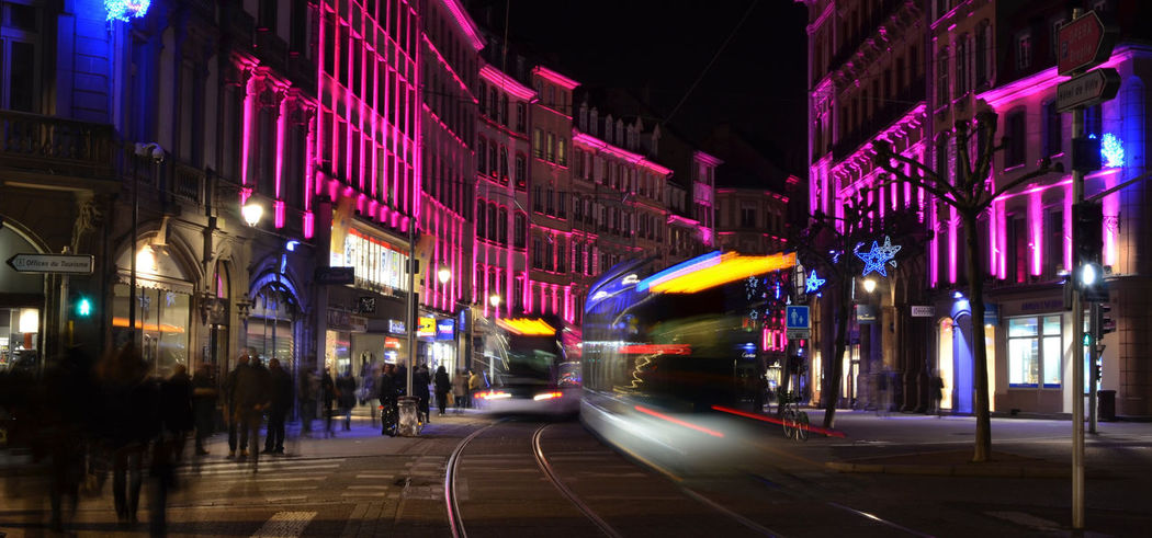 Tramway Strasbourg Night Illuminated City Neon People Multi Colored Outdoors Architecture Mouvement Vitesse Pose Longue Speed Transportation Transport City Lights Motion The Street Photographer - 2017 EyeEm Awards BYOPaper! Your Ticket To Europe Been There. Done That. Mobility In Mega Cities