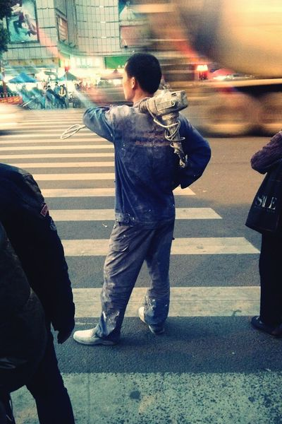 City fighter... City Life China People Urban Asian Culture Street On The Road Fight For Life Human