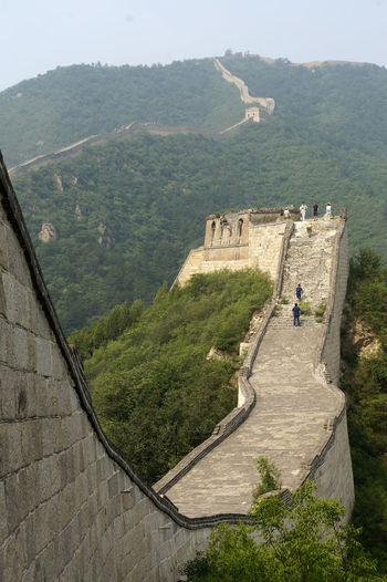 Great Wall Of China Huanghuacheng Adventure Architecture Beauty In Nature Built Structure China Day High Angle View Landscape Men Mountain Nature One Man Only One Person Outdoors People Real People Scenics Sky Travel Destinations Tree
