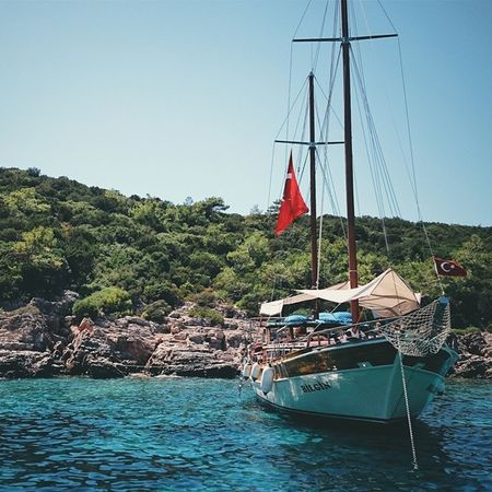 Vscocam Vscocam Datça Bodrum MediterraneanSea Sea water tranquility ship Turkey