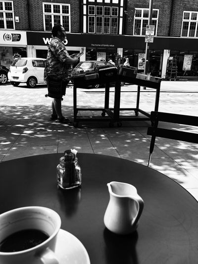 Table Drink Real People One Person Full Length Food And Drink Mug Day Coffee Cup Cup Refreshment Sitting Cafe Outdoors Coffee City Seat Men Lifestyles