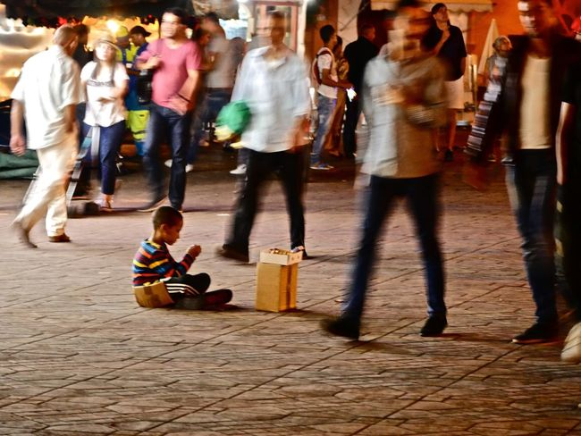 Capturing Motion Child Large Group Of People Street People Night Horizontal Outdoors Blur Boy City Life