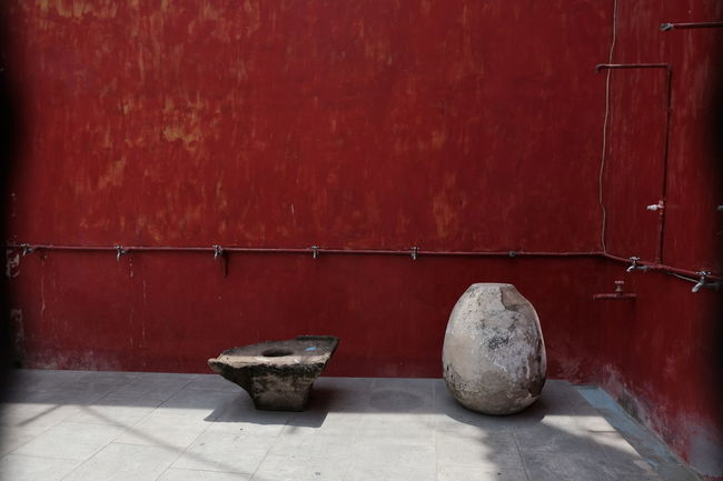 Minimalist is a bliss Wall - Building Feature No People Architecture Red #minimalist #lasem #tiongkokkecilheritage #stone - Material #minimalism #empty #shadowandlight Outdoors Built Structure Empty Solid #antique #traditional #indonesianculture