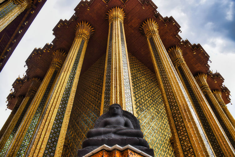 Traditional thai architecture created by artists who transform imagination to reality