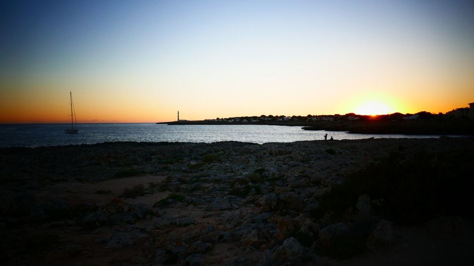Sea Sunset Nature Clear Sky Beach Scenics Beauty In Nature Silhouette Water Horizon Over Water Tranquil Scene Tranquility Sky Outdoors Sand No People Sun Day Black Foreground Tadaa Community Exeptional Photographs