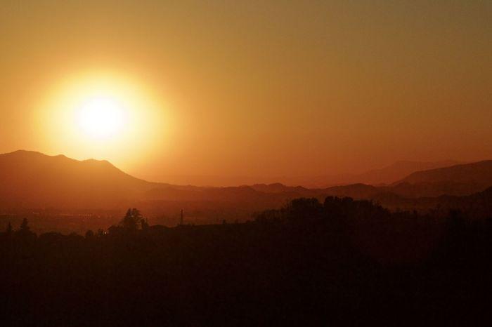Sun setting Color Italy Landscape Light Majestic Outdoors Scenics Silhouette Sky Sun Sunset Tranquil Scene