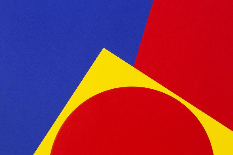 Full frame shot of multi colored pattern against blue sky