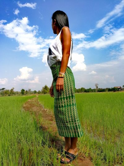 Women Field Farmer Spraying One Woman Only Sky Standing One Person Adults Only Nature Growth People Thailand🇹🇭 2018 Day Close-up Beauty In Nature Outdoors EyeEmNewHere Tranquility Beauty❤