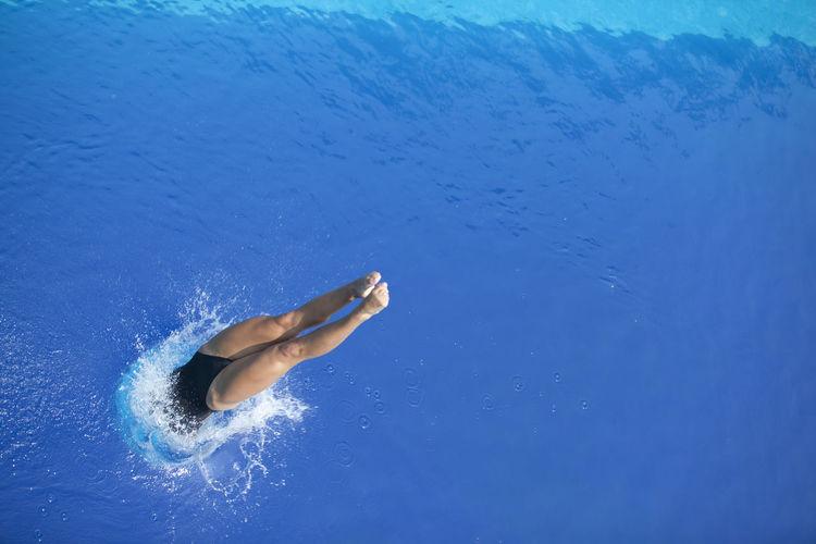 Women In Swimming In Pool