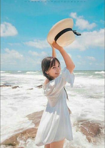 It's Me Girls Beauty MyPhotography Beachphotography Sea And Sky
