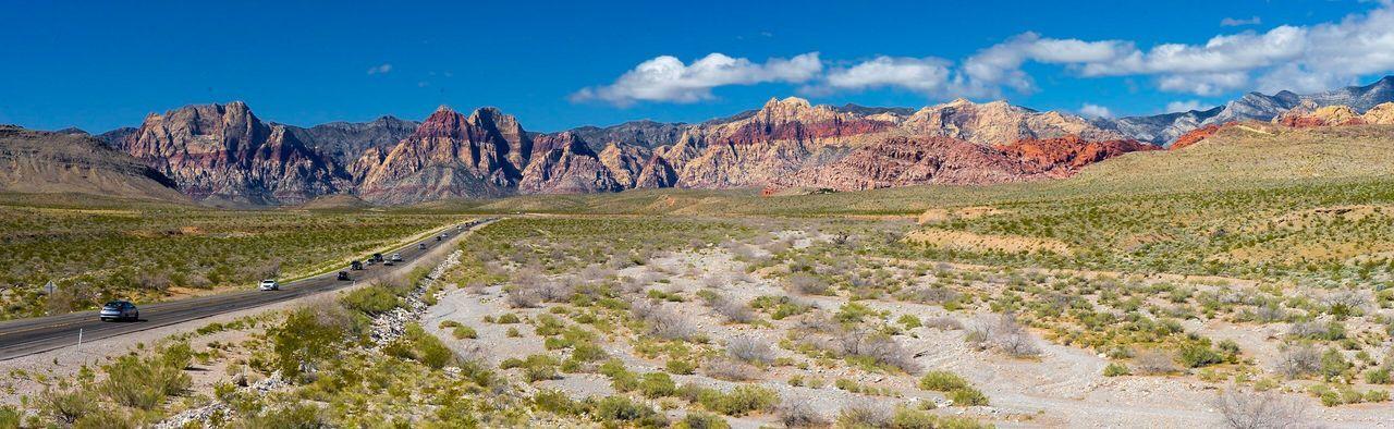 Nevada USA Redrockcanyon Las Vegas Redrock Lasvegas Sky Landscape Environment Land Nature Scenics - Nature Panoramic