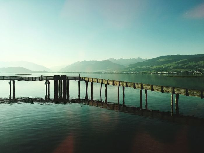 Seedamm Zürichsee Seedamm Damm Water Sky Mountain Architecture Scenics - Nature Nature Built Structure Mountain Range Clear Sky No People Tranquil Scene Beauty In Nature Day Sea Outdoors Bridge