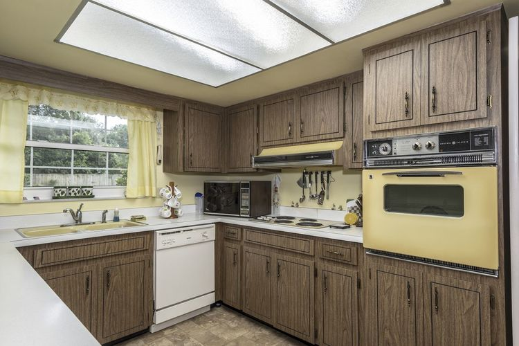 Grandmas Kitchen Family Kitches Absence Appliance Architecture Built Structure Cabinet Ceiling Clean Day Domestic Kitchen Domestic Room Furniture Home Home Interior Household Equipment Indoors  Kitchen Kitchen Counter Luxury Microwave No People Oven Sink Stove