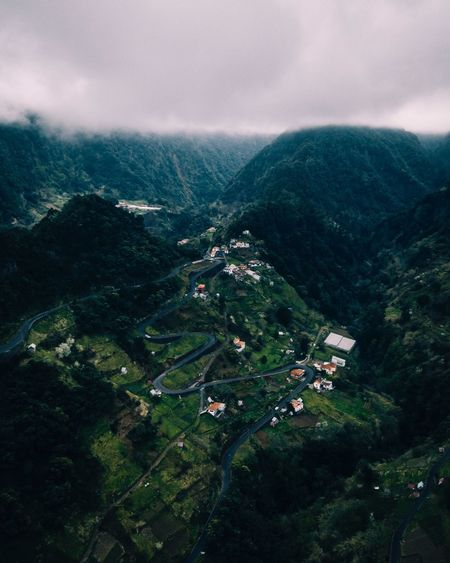 valleylife Madeira EyeEm Nature Lover Aerial View Dronephotography Landscape_Collection Nature Photography Natural Beauty Serenity Drone  Scenics - Nature High Angle View Landscape Nature Plant Cloud - Sky Sky Environment Beauty In Nature Tranquility Mountain Land