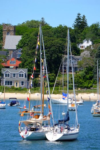 #beach #bluesky #flags #Harbor #nautical #sailboat #sailing #woodshole