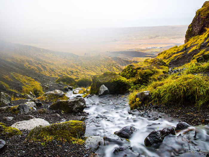 Scenics - Nature Beauty In Nature Rock Environment Nature Rock - Object Mountain Solid Plant Tranquility Landscape Tranquil Scene Water Day No People Non-urban Scene Land River Mountain Range Outdoors Flowing Water Flowing Stream - Flowing Water Iceland Iceland_collection