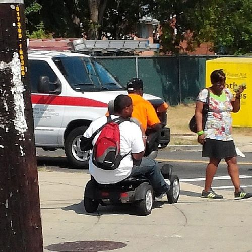 The things you see on Benning rd. Never underestimate the handicapped.