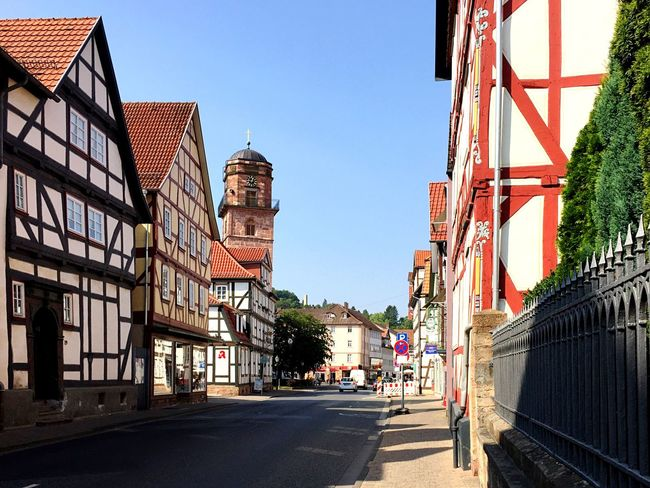 Rotenburg Main Street Building Exterior Architecture Built Structure City Sky Street Building Clear Sky Nature Day The Way Forward Direction Sunlight Residential District Outdoors Road