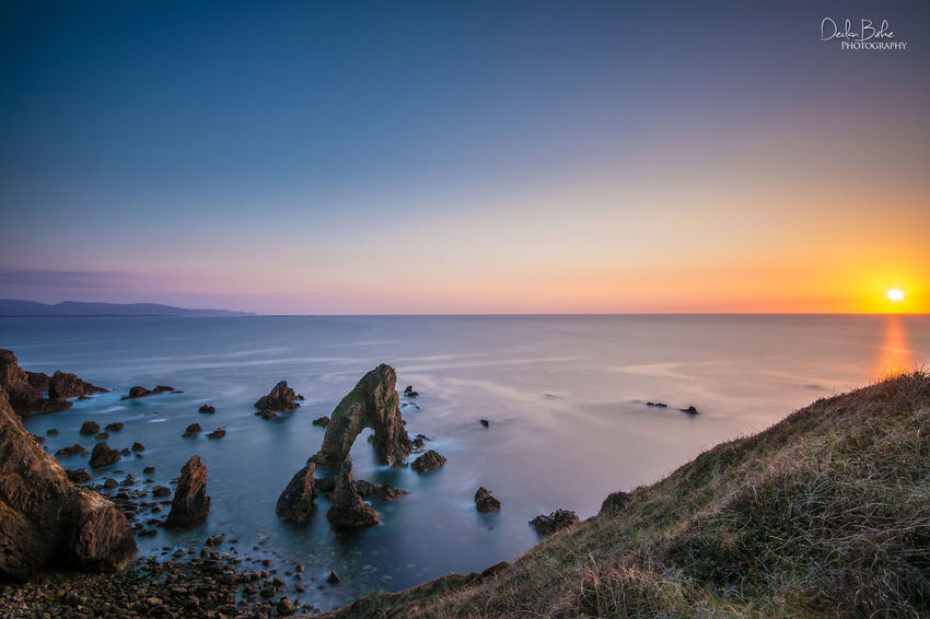 Crohy head sea arch in County donegal, Ireland
