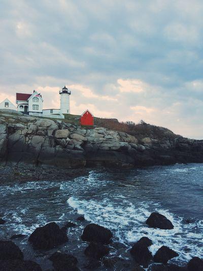 Nubble Light York, Maine Lighthouse Sea Cloud - Sky First Eyeem Photo