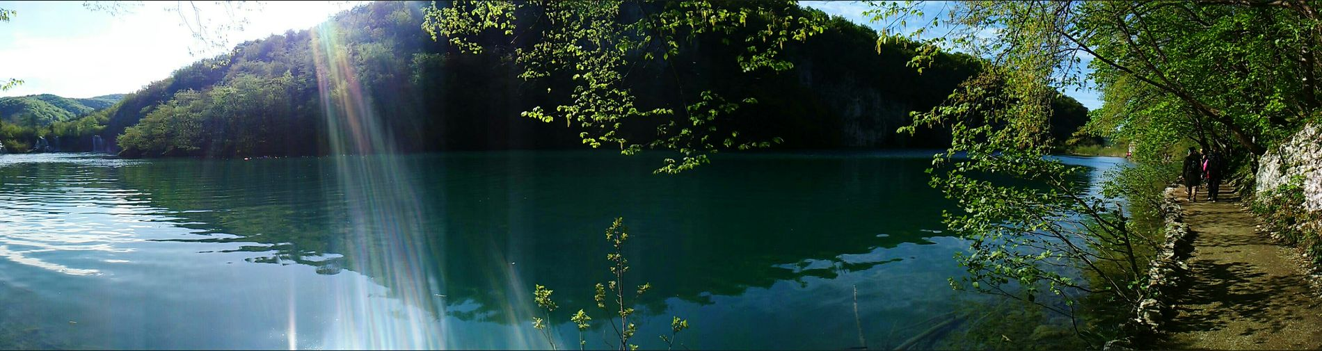 Happy Earth day to everyone! Plitvice Lakes National Park Sunnyday Schooltrip Perfect Panorama Shot. Nature Photography Naturelover Reflections In The Water No Filters Or Effects Green Color Earth Day 2016 EyeEm Best Shots - Nature