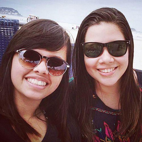 I love you Girlfriend Beach Smile Sunglass  Braziliangirl Guarujaenseada Love