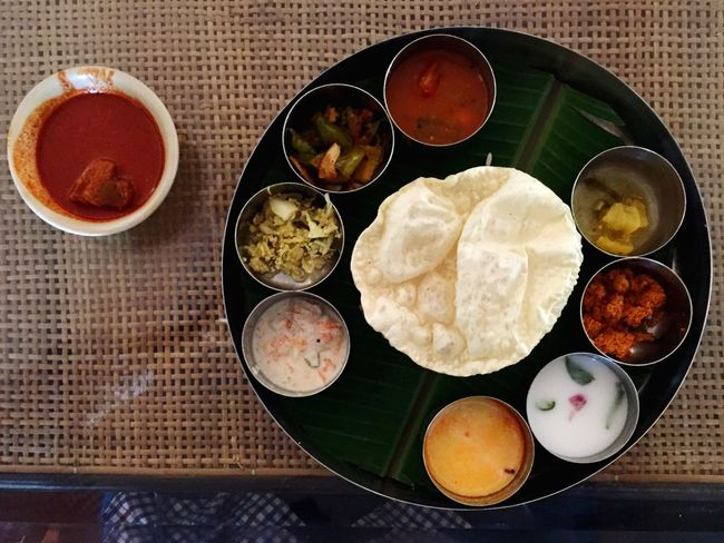 Bowl Food Food And Drink Rice - Food Staple Ready-to-eat Freshness Fried Directly Above Indian Food Street Food Variation Plate Curry Cultures Meal Soup No People Heat - Temperature Thalli Meals Kerala