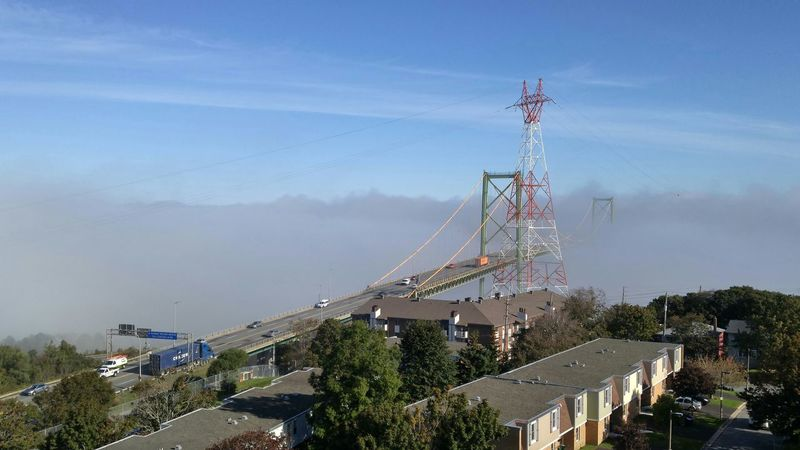 sun, fog and a bridge to??? Nofilter View