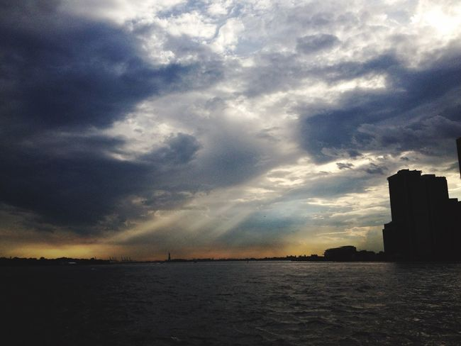 Hudson River After The Storm Manhattan New Jersey Brooklyn View