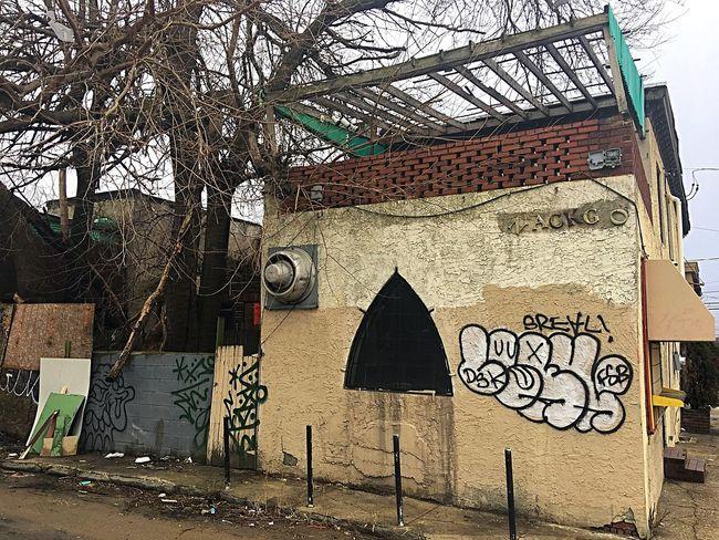 Grays Ferry Avenue City Landscape Filth Graffiti Neglected Architecture Slums Urban Decay