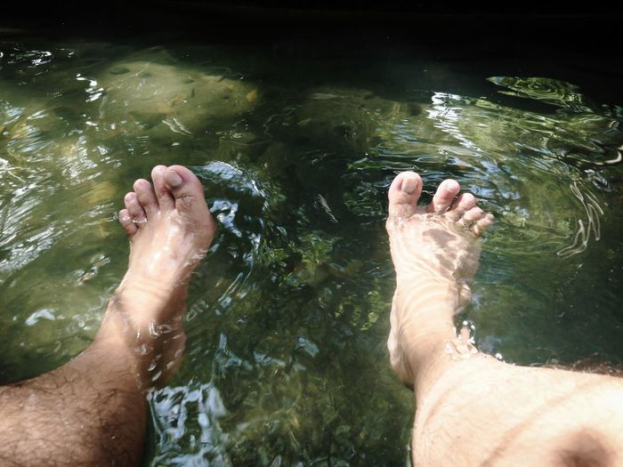 Onsen Onsen Egg SP Ankle Deep In Water Barefoot Close-up High Angle View Hot Spring Human Body Part Human Foot Human Leg Lake Leisure Activity Lifestyles Low Section Men Nature One Person Outdoors People Personal Perspective Real People Refreshment Rippled