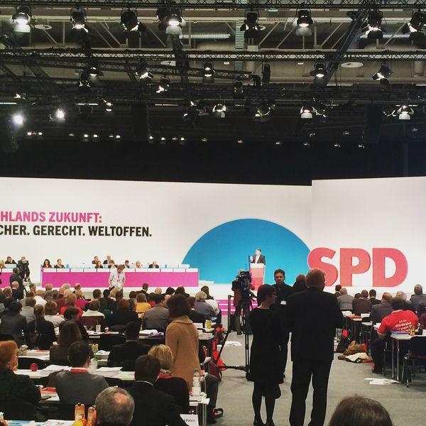 Spd Parteitag Berlin Rede Sigmar Gabriel Zukunft Flüchtlinge Deutschland Citycube Messe Messe Berlin