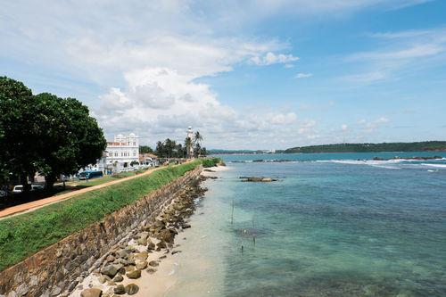 Galle in Sri Lanka Beach Blue Water Cloud - Sky Galle Landscape Lighthouse No People Seaside Sri Lanka