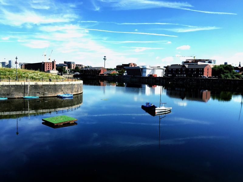 Albert Docks Liverpool Water Sport Water Reflection