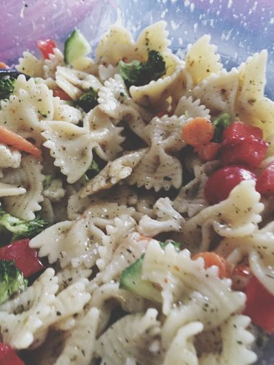 Bow Tie Pasta Salad With Chopped Veggies Fresh Closeup Dinner Time Chopped Vegetables Pasta Lover Foodphotography Vegetables Salad Bow Tie Pasta Recipes Salad Red Peppers Broccoli Salad Time Cauliflower Summer Salad Healthy Eating Pasta Fresh Pasta Foodies Pasta Salad Red Green Red Pepper Homemade Salad Food Healthy Lifestyle