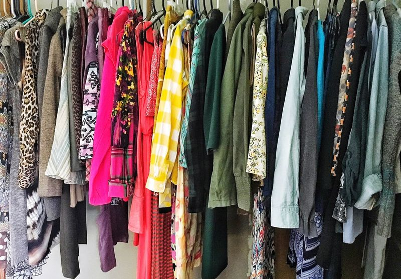 Style Blogger Style And Fashion Changing Seasons Change Evolving My Style Curated Photos Advertisement Background Neat & Tidy Particular Closet Spaces Hung Rainbow Closet Clothes For Days Wardrobe Spot Rainbow Colors Clothes Closet Wardrobe Clothing Hung My Closet  Organized Orderly ORDERLY FASHIONED Everything In Its Place Initsplace