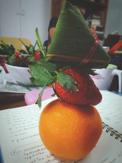 Orange Strawberry Southernthai Dessert Office Teatime☕️